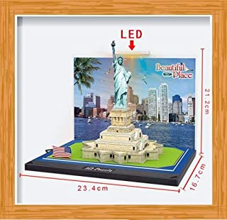 DENTT Statue of Liberty New York Building 3D Diorama Kit with Led Light