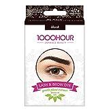 1000 Stunden Augenbrauen- und Wimpernfarbe - sanfter Extraktpinsel im Set - schwarz