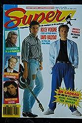SUPER N° 25 AVRIL 1990 MADONNA 3 PAGES BROS JACKSON ROCH VOISINE DAVID HALLYDAY POSTER GEANT MICKEY ROURKE & PATRICK BRUEL
