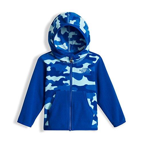 The North Face Infant Glacier Full Zip Hoodie - Sky Blue Classic Camo Print - 6M (Past Season)