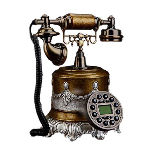 Liuyu · Leven huis olieverf geborduurd retro telefoon brons dubbele bel hars metalen knop wijzerplaat tuin mode creatieve zetel Europese Home Office 20 cm * 26 cm * 25 cm