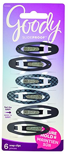 Goody SlideProof Contour Hair Clips, 6-Count