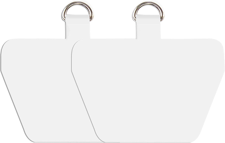2 languettes//blanc COCASES Lot de 2 patchs de rechange pour cordon de t/él/éphone