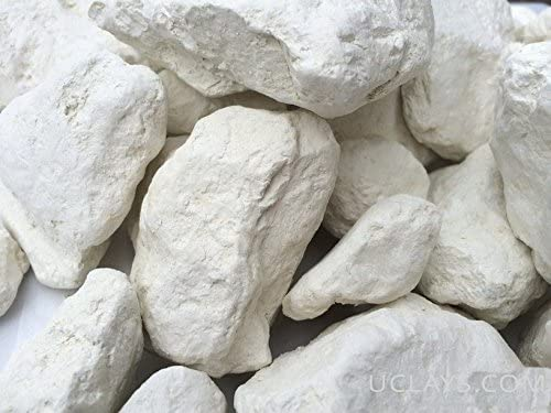 White Edible Clay, White Dirt, Chunks (lump) Natural for Eating (Food), 1 lb (450 g)