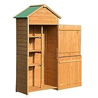 ✅Casetta ripostiglio da giardino ideale per tenere in ordine tutti gli attrezzi e utensili da giardinaggio ✅Struttura realizzata in legno di elevata qualità e laccata con vernice impermeabile ✅Il tetto spiovente ricoperto di tessuto di poliestere pro...