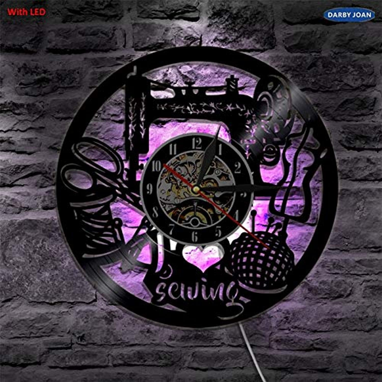 OLILEIO Ich Liebe Nhen Led Vinyl Clock Wandleuchte Hintergrundbeleuchtung Farbwechsel Vintage Handmade Home Decor Art Lampe Fernbedienung, mit LED, 12 Zoll