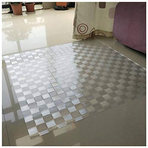 TIKNPOL Bodenmatte Stuhlunterlage,Teppich Schutz rutschfest Kratzfest Stuhlunterlage Transparent Bodenmatten Stühle Move Reibungslos-60x60cm(24x24inch)-D