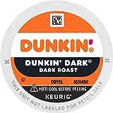 Dunkin' Dark Roast Coffee, 60 K Cups for Keurig Coffee Makers (Packaging May Vary)
