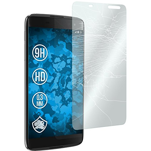 PhoneNatic 2 x Glas-Folie klar kompatibel mit BlackBerry DTEK60 - Panzerglas für DTEK60