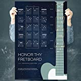 iVideosongs Guitar Wall Art 'Honor Thy Fretboard' (24'x 36') • Guitar Chords & Guitar Fretboard Wall Art Poster • High Quality, UV-Coated, 100# Music Poster Print • Free Access to 150+ Tutorials