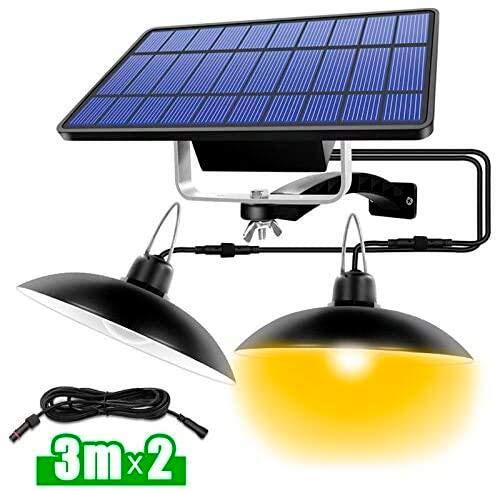 TAST Neues 2020 Kronleuchter Solarleuchte mit Fernbedienung Retro Solar Lampenabdeckung LED Licht 3m * 2 Kabel Hängelampe für Gartenleuchte im Freien
