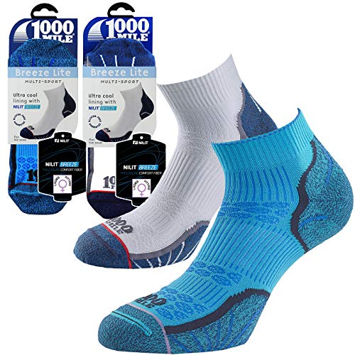 1000 Mile Damen Socken weiß Medium UK6-8.5