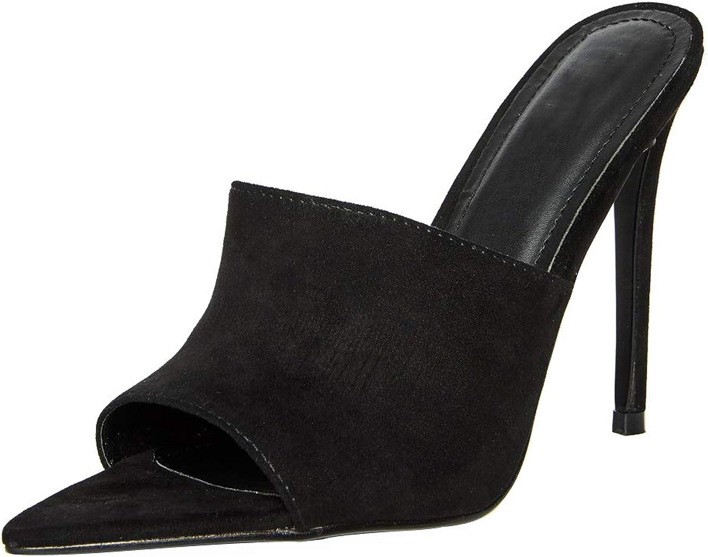 Themost Themost Themost hög klack Mule kvinnor Pointed Toe Slippers To Sandals Party Pump bröllop skor  varm