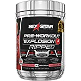 Pre Workout + Weight Loss | Six Star PreWorkout Explosion Ripped | Pre Workout Powder for Men & Women | PreWorkout Energy Powder Drink Mix | Sports Nutrition Pre-Workout Products | Watermelon, 30 Serv