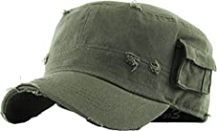 THE HAT:✔️100% Cotton.✔️Vintage Distressed Cadet Army Design.✔️4 Sizes Available (Small/Medium/Large/X-Large).✔️Flat Top / Fitted Size / Semi Pre-Curved Visor.✔️Great Unisex Design For Both Men & Women.✔️Excellent Quality & Detailed Construction.✔️Pr...