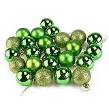Amosfun - Bola de Navidad (24 cm, 4 cm), diseño de bolas de purpurina irrompible, color verde