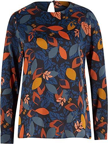 Seidensticker Damen Shirtbluse Langarm Print Bluse, Bunt, 44