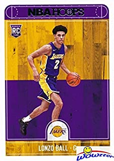 Lonzo Ball 2017/18 Panini Hoops #252 ROOKIE Card in MINT Condition! Shipped in Ultra Pro Toploader to Protect it! Los Angeles Lakers #2 NBA Draft Pick and Young Superstar! WOWZZER!