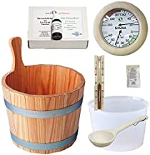 SudoreWell® Set pour sauna 4 Kit d' accessoires pour sauna 4 / Set de 7 pièces