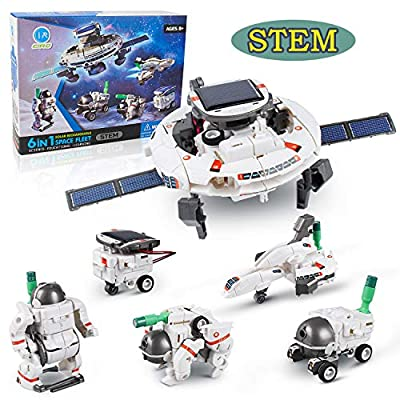 Ciro 6 in 1 Space Solar Robot Kit , Educational Learning Science Building Toys, Stem Projects for Kids Age 8+ Years Old Boys and Girls