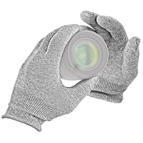 VSGO Antistatische Handschuhe 'staubfrei, vakuumverpackt' fuer DSLR & Objektive - 100% Carbon Faser - DDG-2