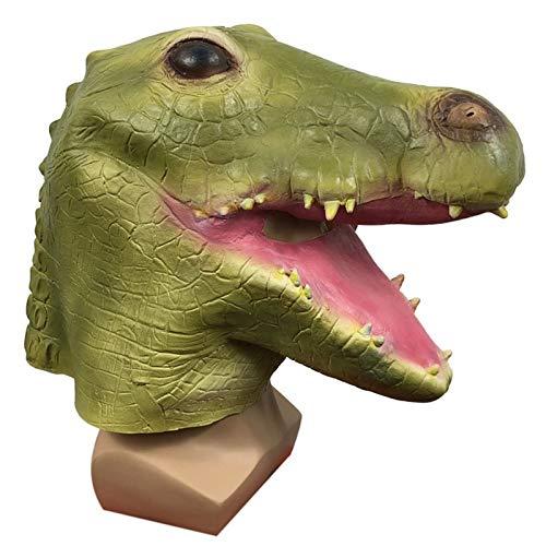NHP Bonita mscara de cocodrilo Animal para la Cabeza, Mascarada Divertida mscara de Rendimiento, Accesorios de Parodia de Fiesta de Halloween