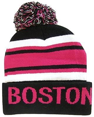 Boston Adult Size Winter Knit Beanie Hats