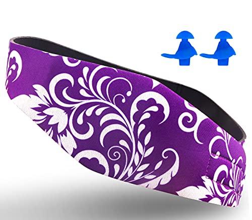 Cinta de natación diseñada para ayudar a prevenir los oídos de nadador, protector de orejas, evita la entrada de agua y mantiene los tapones de los oídos, banda impermeable, Violet M