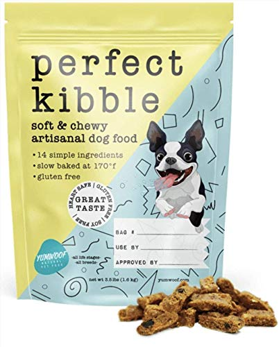 Yumwoof Perfect Kibble - Soft Dry Dog Food with Organic Coconut Oil & Fresh Chicken | Gently Cooked by Real People | Gluten Free | No Fillers | 100% Made in USA