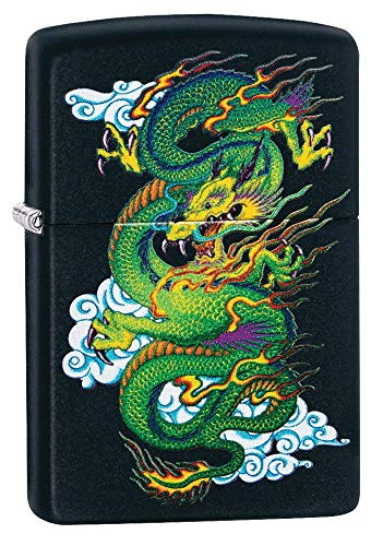 Zippo Black Matte Dragon Pocket Lighter