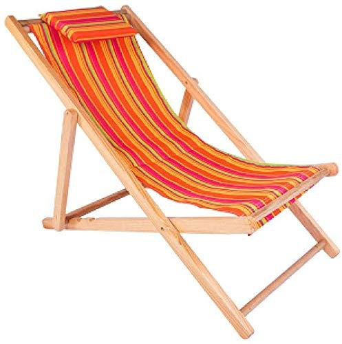 CWT Zero Gravity - Tumbona plegable de madera para jardín, tumbona de playa extraíble con reposabrazos y almohada para el jardín, terraza y balcón, franja blanca verde (color rojo tira)