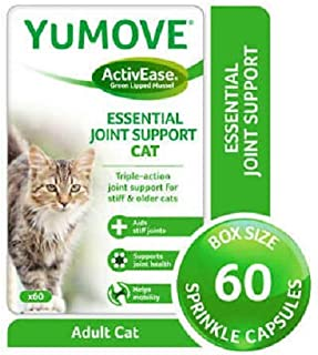 Lintbells | YuMOVE Cat | Hip and Joint Supplement for Stiff Cats, All Ages and Breeds | 60 Capsules,clear