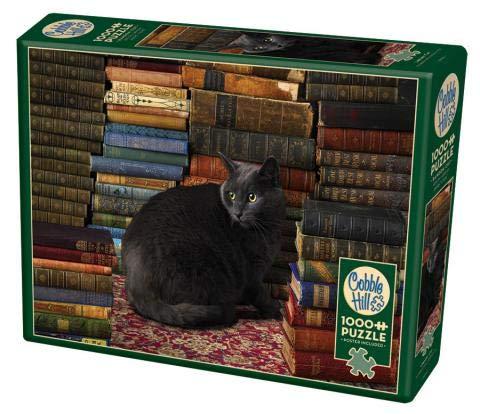 Cobble Hill 51830Casse-Têtes–Library Cat , color/modelo surtido
