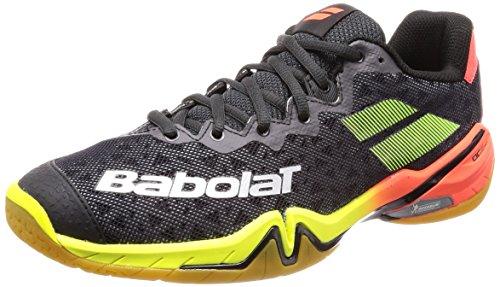 Babolat Shadow Tour 2019 Badmintonschuhe schwarz/rot/gelb 30S1801-296, Schuhgröße:49 EU
