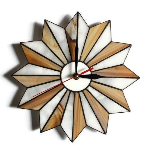 Starburst stained glass wall clock
