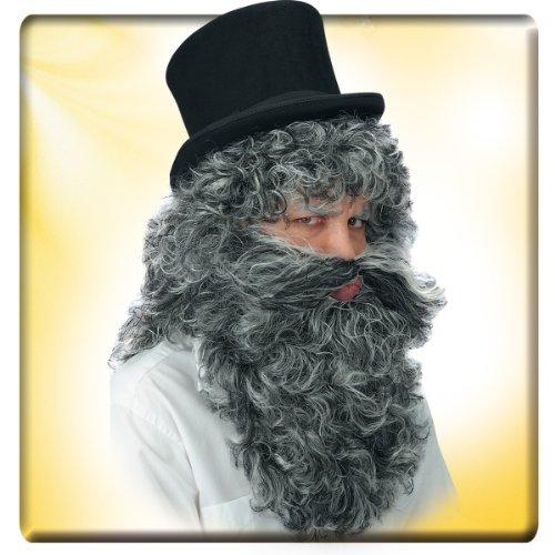 Parrucca e barba grigia Mangiafuoco barbone