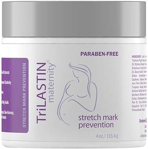 TriLASTIN Maternity Stretch Mark Prevention Cream - Paraben-Free, Hypoallergenic, Safe for Pregnancy & Made in USA - ...