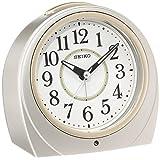 セイコー クロック 目覚まし時計 自動点灯 アナログ 夜でも見える 銀色 メタリック KR888S SEIKO
