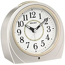 SEIKO CLOCK ( Seiko clock ) automatic lights alarm clock ( silver ) Round KR888S by Seiko Watches