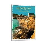 Newquay Poster North Cornwall Filmdruck Aufkleber Retro