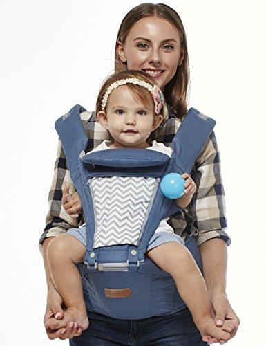 Boyovo Porte-bébé siège de hanche, sac à dos, écharpe 6 en 1 pour toutes les saisons