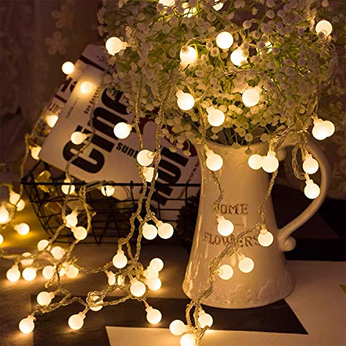 BANCELI-Catena Luminosa Esterno Solare - Aerb 50 LEDs -7m Luci da Giardino con Pannello Solare Più Grande IP65 Impermeabile per Interni Terrazzo