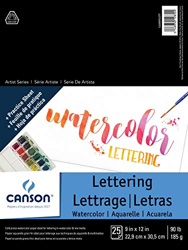 Canson Artist Series Watercolor Lettering