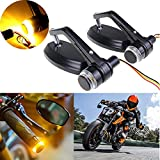 7/8' 22mm Motorcycle Handle Bar End Mirrors Rear Side Mirror w/Turn Signal Universal for Honda for Yamaha for Suzuki for Harley Cafe Racer