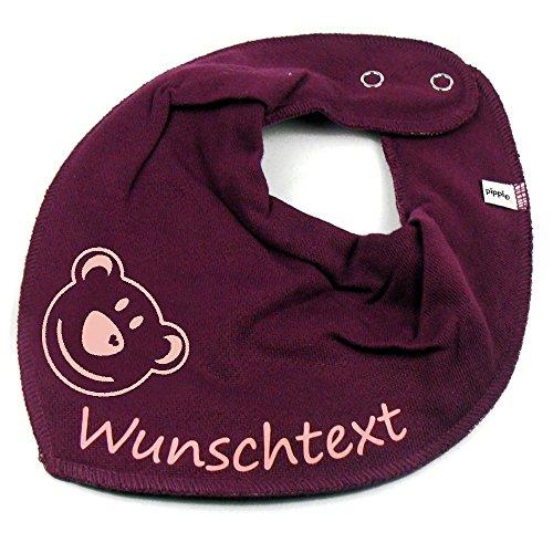 Elefantasie Elefantasie HALSTUCH BÄR mit Namen oder Text personalisiert beere für Baby oder Kind