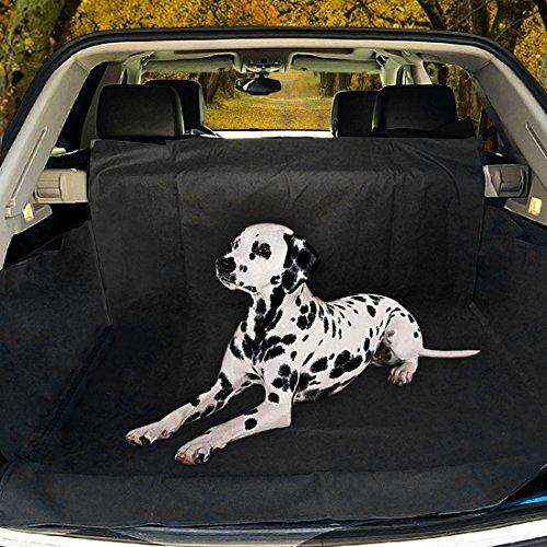 poppypet Hundedecke Auto, Auto Hundedecke, Autoschondecke mit Seitenschutz, Wasserfestes, Schützt Ihre Auto-Kofferraum vor Schmutz und Tierhaaren 155 * 104 * 33cm Schwarz