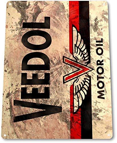 SIGNCHAT Veedol Motoröl Gas Metall Wanddeko Auto Shop Garage A748 Blechschild 20,3 x 30,5 cm