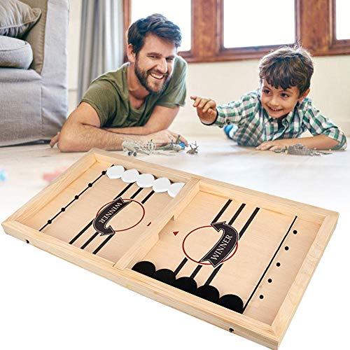 Schnelles Sling Puck-Spiel Slingshot-Spiele Toy Table Desktop Battle 2-in-1-Eishockeyspiel Lustiges Battle Toy-Eishockey-Brettspiel für Table Desktop (21,7 x 11,8 x 1,3 Zoll)