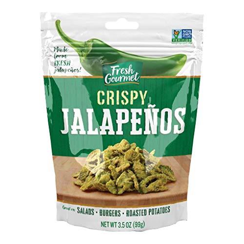 Fresh Gourmet Crispy Lightly Salted Jalapenos | 3.5 Ounce, Pack of 6 |...