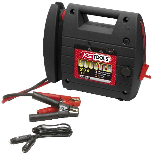 Lowest Prices! KS TOOLS 12 V Battery Booster Mobile Emergency Starter 510 A, Clear